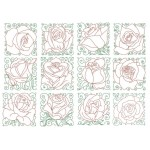 Stickserie - Lovely Roses Blocks