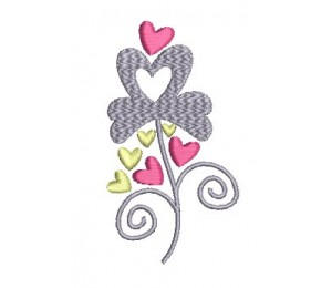 Stickdatei - Heart Swirls 1