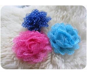 Chiffon Tüll Blume für Haarband