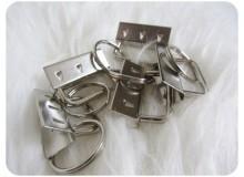 Schlüsselband Rohling 30mm Key Fob silber farben