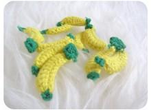 Häkelapplikation - Banane