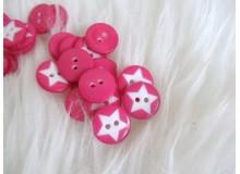 Knöpfe - Sterne pink