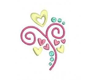 Stickdatei - Heart Swirls 2