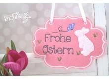 """ITH - Türschild """"Frohe Ostern"""" Hase"""