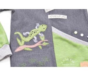 Stickdatei - Echse Reptil Fransenappli