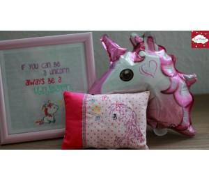 Stickdatei - ITH Kissen Baby Unicorn 3