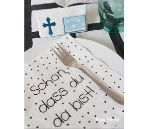 Stickdatei ITH - Tischkarten Konfirmation Kommunion Taufe