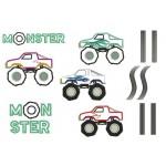 Stickserie - Monstertrucks