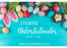 Stickdatei Osterkalender 2021