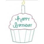 Stickdatei - Happy Birthday Muffin Doodle