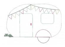 Stickdatei - Camping Wohnwagen Appli