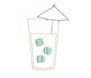 Stickdatei - Schirmchen Drink mit Eis