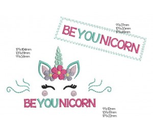 Stickdatei - Be YOU nicorn Einhorn