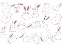 Stickserie - Funny Bunnies