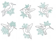 Stickserie - Eisvogel Line Art
