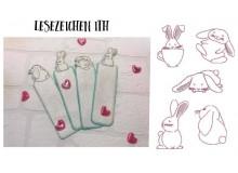 ITH Stickserie - Funny Bunnies Lesezeichen