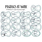ITH Stickserie - Mug Rugs At Work 1
