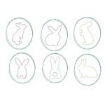 Stickserie - Osterbunny Doodle Rahmen