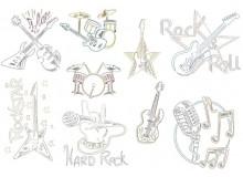 Stickserie - Rockstar