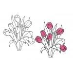 Stickdatei - Tulpen Strauß