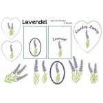Stickdatei - Lavendel inkl. ITH Beutel & Herzen