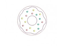 Stickdatei - Donut Zuckerstreusel Doodle