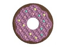 Stickdatei - Donut Zuckerstreusel