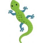 Stickdatei - Echse Reptil incl. Puschendatei