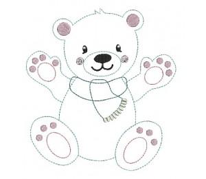 Stickdatei - Schneetiere Eisbär