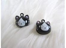 Glöckchen Katze -Schwarz