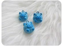 Glöckchen Schweinchen blau