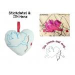 ITH Herz & Stickdatei - Amor