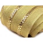 Endlos Reißverschluss 5mm mit 2 Schieber -Gold farben