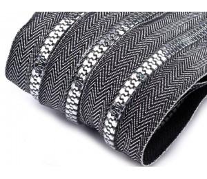 Endlos Reißverschluss 5mm mit 2 Schiebern -Silber farben