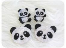 Häkelapplikation - Panda