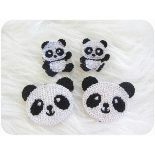 Häkelapplikation - Panda - Lollipops for Breakfast