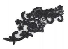 Spitzeneinsatz schwarz 8x20 cm