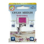 ORGAN® Needles Embroidery 75