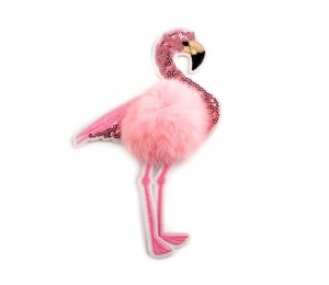 Aufbügler - Flamingo mit Pailletten 18,5cm