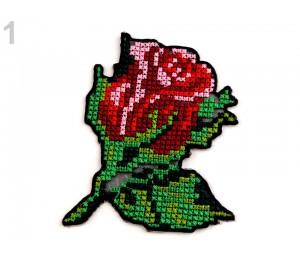 Aufbügler - Rose Kreuzstich