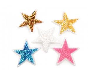 Aufbügler Stern mit Pailletten