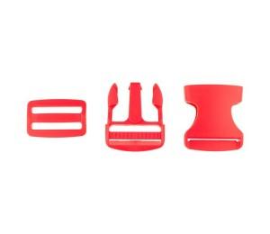 Taschenverschluss Schnalle mit Schieber 3,8 cm rot