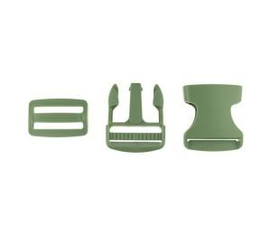 Taschenverschluss Schnalle mit Schieber 3,8 cm oliv