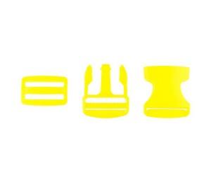 Taschenverschluss Schnalle mit Schieber 3,8 cm gelb