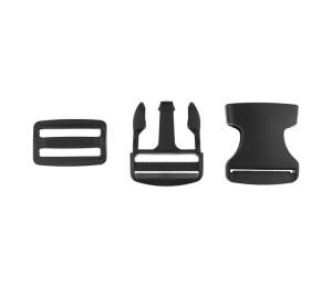 Taschenverschluss Schnalle mit Schieber 3,8 cm braun