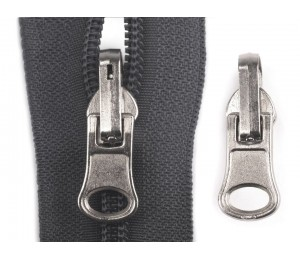 Schieber Zipper zu Spirale Reißverschlüssen 6 mm umklappbar doppelseitig drehbar