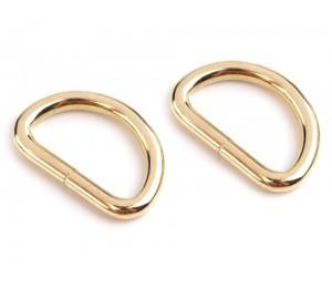Halbring Breite 32 mm für Leder gold farben