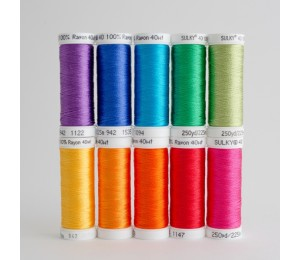 SULKY® RAYON 40 - Colour Wheel (10 x 225m Snap Spulen)