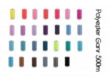 Nähgarn aus Polyester Unipoly Wickel 500 m - Farbe frei wählbar