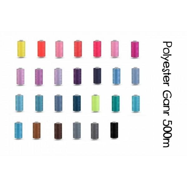 Nähgarn aus Polyester Unipoly Wickel 500 m - Farbe frei wählbar ...
